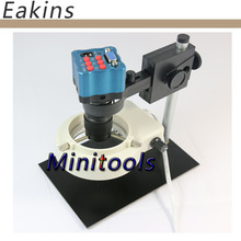 Discount! Mini digital microscope optical lens industrial camera 5x-100x magnification with IR remote control VGA output camera