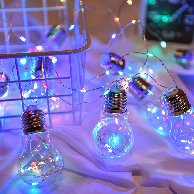 100 led fairy 7cm clear bulb copper wire string lights 10 bulb led decoration for christmas