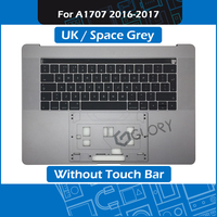 Space Grey A1707 Top Case w/ Keyboard UK Layout for Macbook Pro Retina 15 Touch Bar A1707 Palm rest 2016 2017 Year