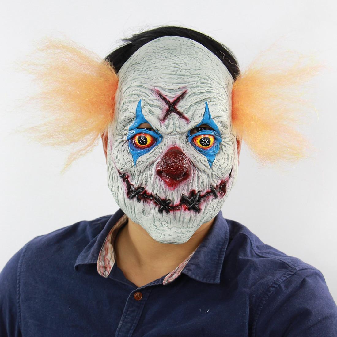 1pcs Terror Scary Maske Bloody Full Head Masks Clown Mask Halloween Horror Party Mascaras Man Festive Carnival Masque