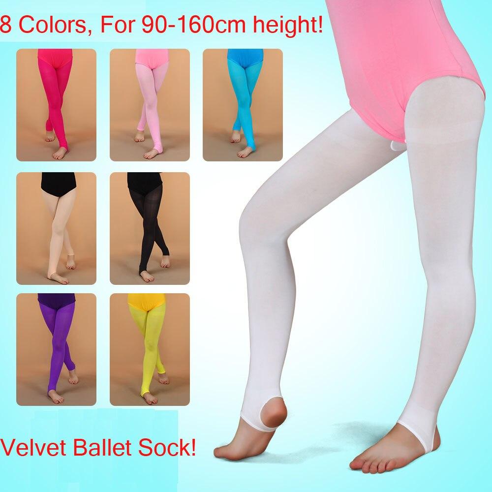 a83124b5648 Velvet Child Dance Sock Panty Hose Girls Soft Elastic Collant Professional Ballet  Socks Dancing Ballerina Professional Leggings