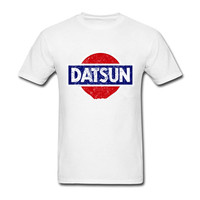 2018 Cheap Sale 100 Cotton Datsun Shirt Men Male Homme Harajuku Short Sleeve Custom Big Size