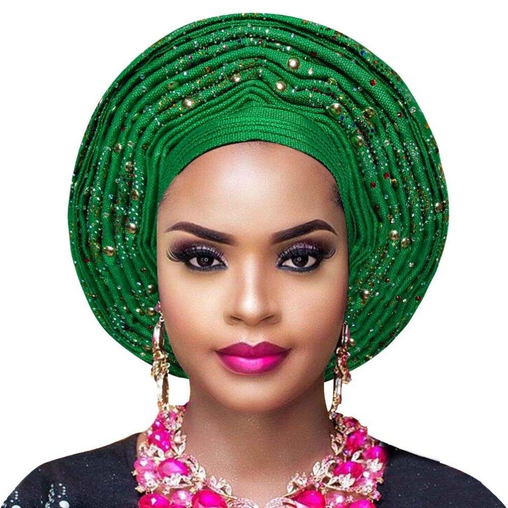 Aso oke gele african headtie nigerian headtie auto gele women headwrap lady wedding turban (4)