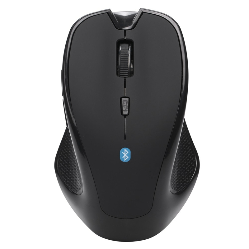 Wireless Mouse Bluetooth 3.0 6D 1600Dpi For Pc Optical Gaming Mouse Without Battery Black Plastic