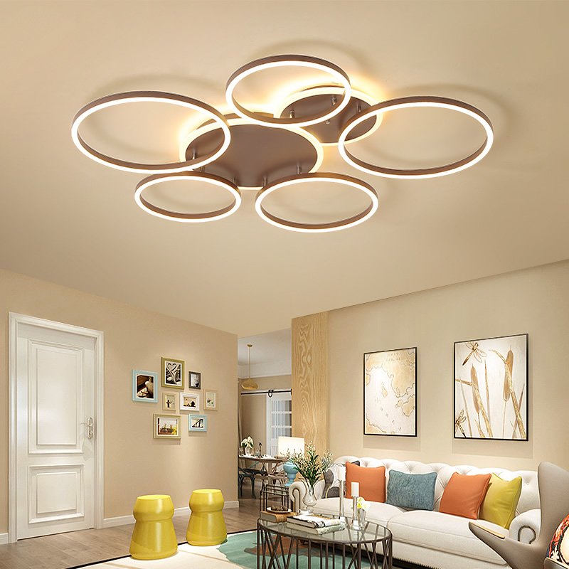 Creative Circle Ring Chandelier Ceiling For Living room Dining Bedroom Acrylic LED Chandelier With Remote Control Light FixturesCreative Circle Ring Chandelier Ceiling For Living room Dining Bedroom Acrylic LED Chandelier With Remote Control Light Fixtures