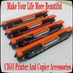 Dla HP M176 M176n M177 M177f M177fw kolor kaseta z tonerem do drukarki  dla HP 130A CF350A CF351A CF352A CF353A do napełniania kasety z tonerem