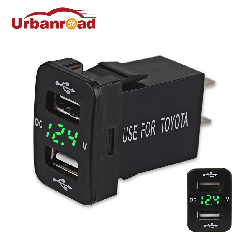 Urbanroad 5v 4.2A Boat Motorcycle Car USB Socket Voltage Cigarette Lighter Charger USB Auto Charger Power Adapter Socket Truck