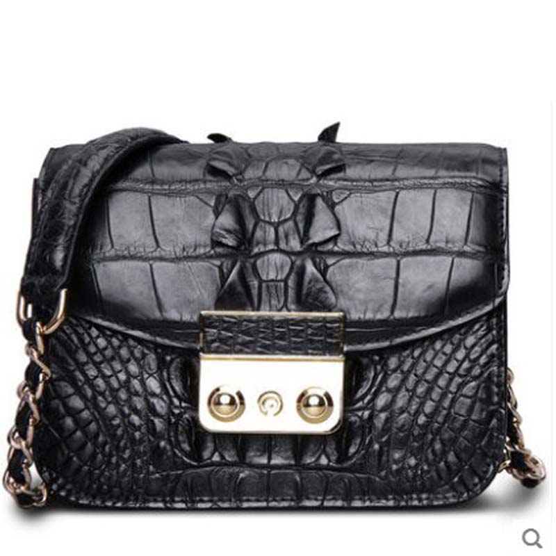 cestbeau 2018 New crocodile skin Ladies single shoulder bag small side bag leather fashion chain diagonal span strap Lock new bag strap chain wallet handle purse acrylic resin strap chain strap replaced bag strap bag spare parts