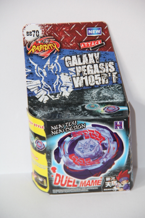 US $5 49 |Galaxy Pegasus (Pegasis) W105R2F Metal Fury 4D Legends Beyblade  Hyperblade BB70 Without Launcher-in Spinning Tops from Toys & Hobbies on