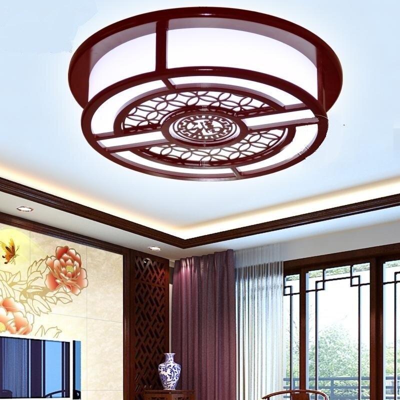 Klassische Chinesischer Holzdecke Wohnzimmer Schlafzimmer Deckenleuchten Holz Schaffell Lampen Retro Antike Lampe ZHChina