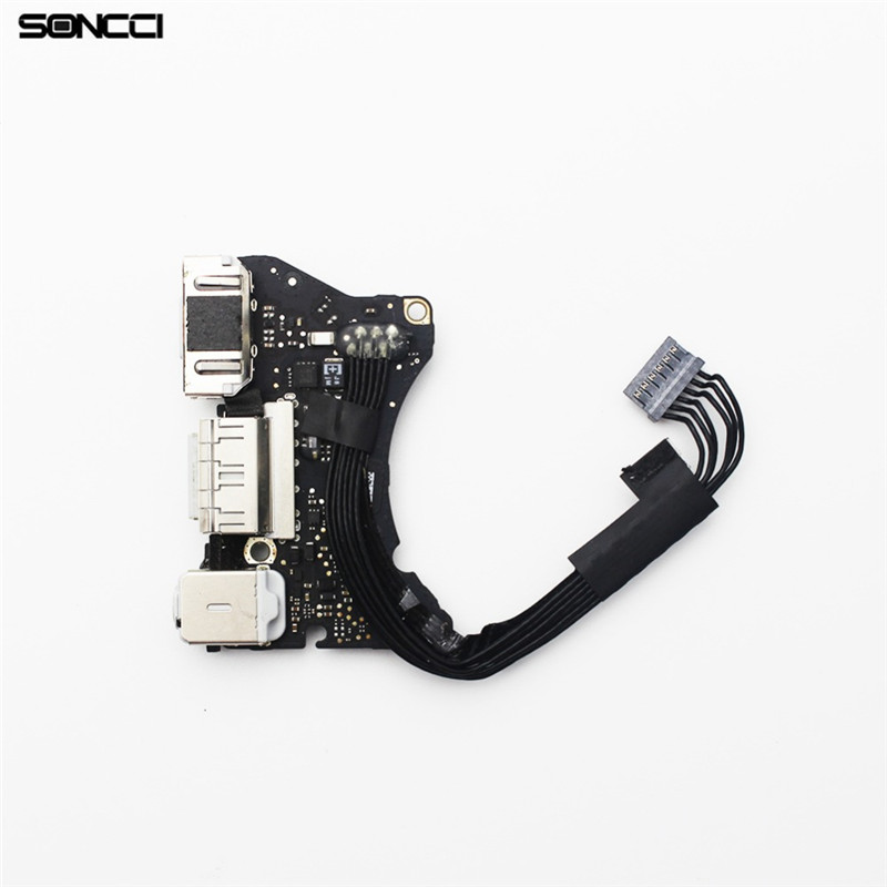 Soncci A1465 New Power DC Jack Audio Board cable Repair parts For MacBook Air 11 A1465 2013 for macbook air usb i o audio board 820 3213 a 11 laptop a1465 power dc jack md223 md224 2012