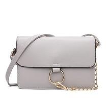 luxury brand women bag messenger vintage shoulder bag strap ladies chain leather metal ring clutch bag purse women fashion bags