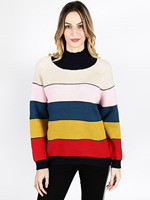Colorful striped sweater Wool Blend