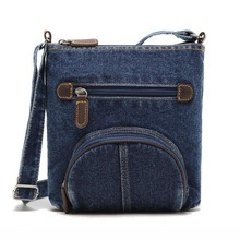 European Women messenger bag front pocket cowboy bags Fashion blue denim shoulder bags women handbag classical