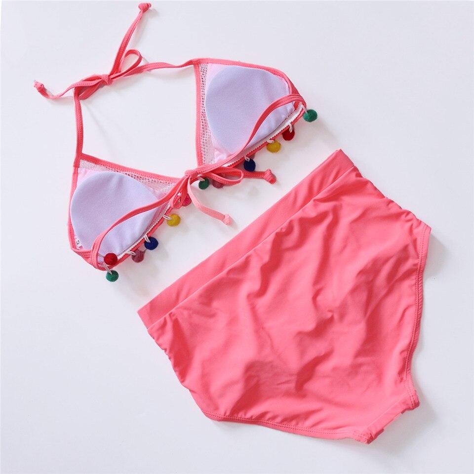 HTB1rneGQMHqK1RjSZFPq6AwapXau Sexy High Waist Bikini Women Halter Retro Mesh Hollow Out Swimwear Women Biquini Bathing Suit Female Swimsuit