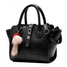 Ladies Hand Bag New PU Leather Fashion Thread Plaid Handbag Women Simple Buckle Designer Casual Shoulder Bag Crossbody Bag