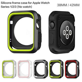 Eastvita Soft Silicone Screen Protector Case for Apple Watch Full Screen Ultra-thin Cover For iWatch Series 3/2/1 42mm/38mm Smart Accessories