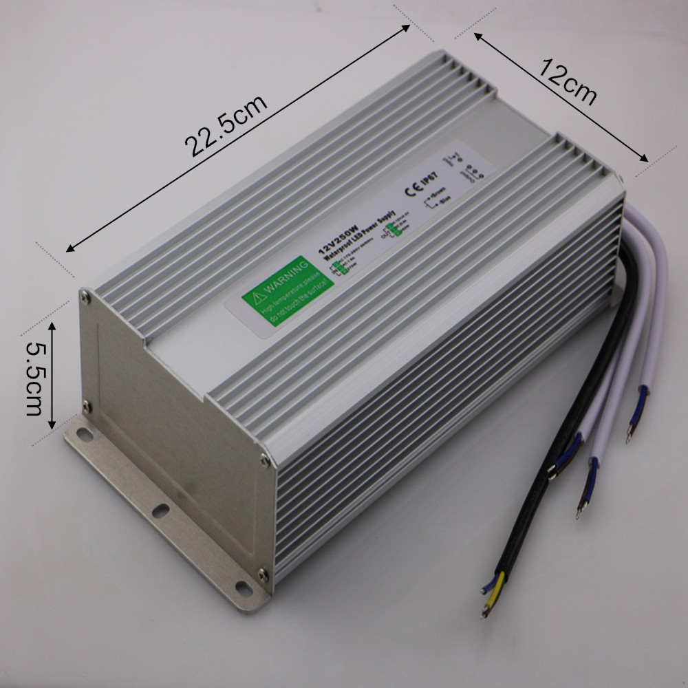 Waterproof DC 12V 250W LED Driver IP67 AC 170-250V Power Supply LED Transformator Switching Power Supply 12V 250W Free Shipping meanwell 12v 350w ul certificated nes series switching power supply 85 264v ac to 12v dc