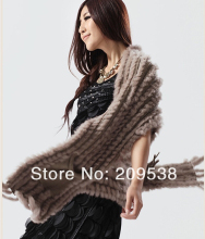Free shipping Hot sale sweatshirt bunny fur shawl with pocket knitted bunny fur vest finest selling poncho style fur cape