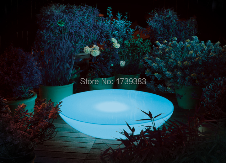 D66*H22 CM Semicircle Led Illuminated Furniture,Lounge Variation LED,led coffee table rechargeable for Bars,EVENTS AND Christmas