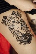Temporary Tattoos, Beauty Vintage Black Pattern Large Size