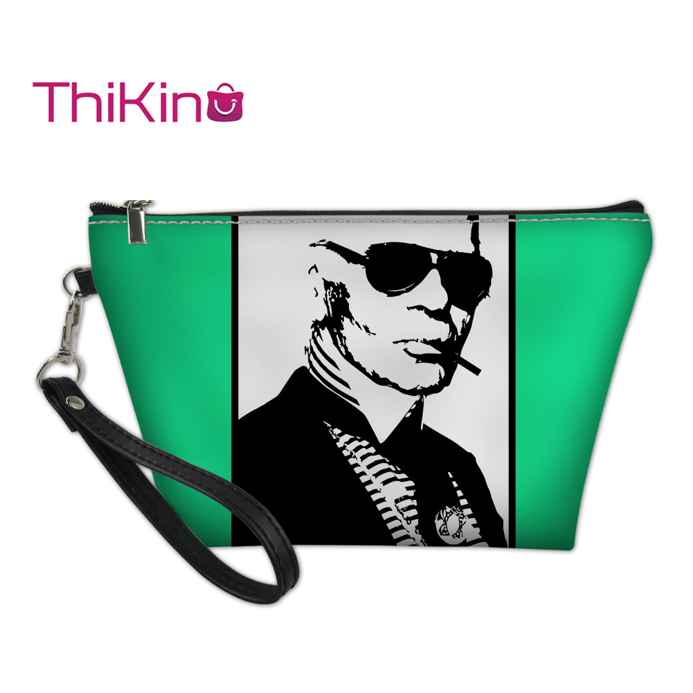 Thikin karl Lagerfelds Makeup Bags for Women Girls Cosmetic Bag Travel Handbag Case Pouch Rock Storage Purse