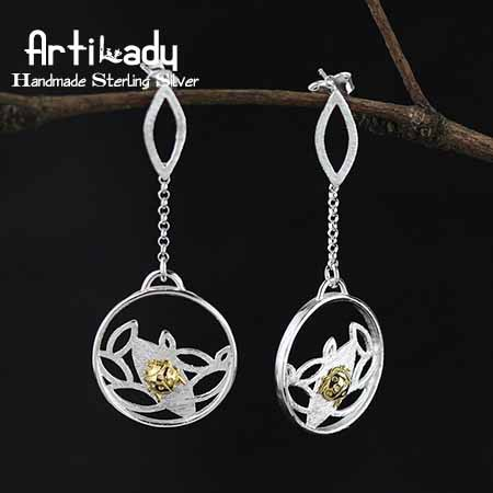 Artilady lovely 925 sterling silver earrings handmade ladybird design sterling silver earrings women jewelry christmas gift artilady 925 sterling silver stud earrings delicate geometry natural stone earrings women jewelry for party gift