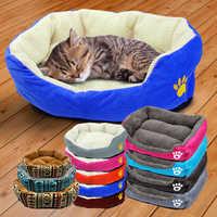 Warme Katze Bett Haus Pet Welpen Sofa Zwinger Matte Winter Katze Betten Nest Für Kleine Mittelgroße Hunde Katzen Cama perro Pet Produkte