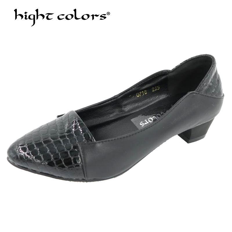 Four Seasons patent leather Low Heels Shoes Women Professional Shoes Ladies Shallow Mouth Work Shoes Black Red Office Shoe цена 2017