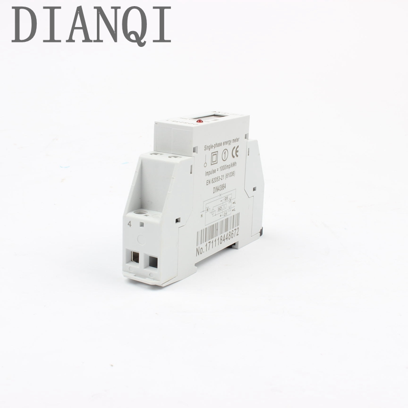 Din rail single phase KWH meter Digital display  two wire energy meter 5(32)A 50HZ or 60HZ 220V Watt hour 5a to 32a 25a 16a 10a 1 5 65a 120vac 60hz single phase din rail kilowatt led hour kwh meter ce proved