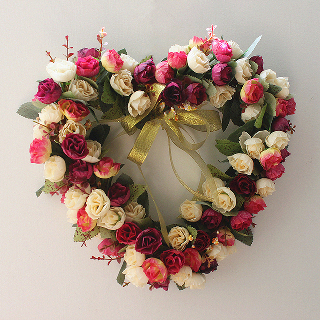 Aliexpress.com : Buy European Style Wreath Artificial Heart Shaped ...