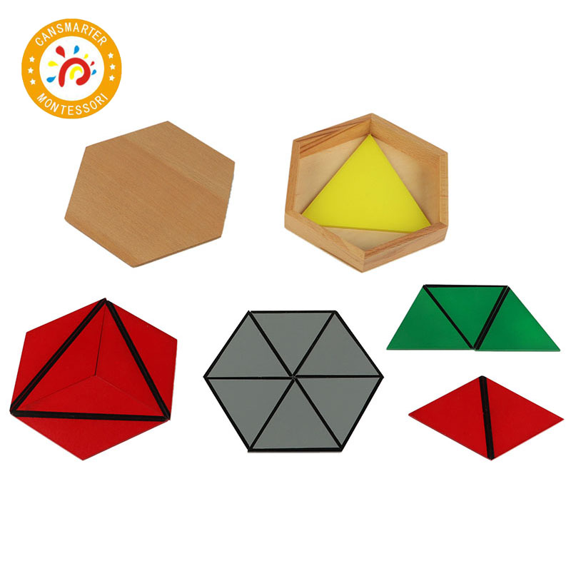 Baby Toy Montessori Materials Wooden Toys Constituting a Triangle Home School Box Geometric Toy Games Jigsaw puzzle - 3
