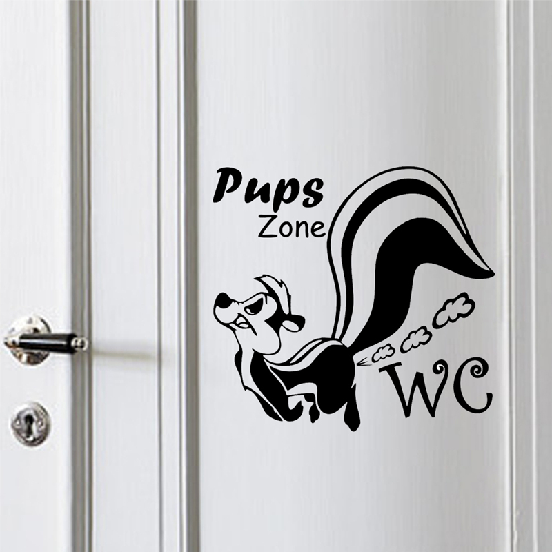 Pups Zone WC Wall Stickers