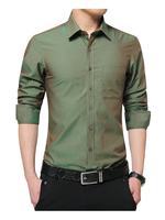 2018 Brand New Mens Dress   Shirt   Long Sleeve Cool   Shirt   Candy Color Plus Size 5XL Turn Down Collar Slim Fit   Shirt   for Men