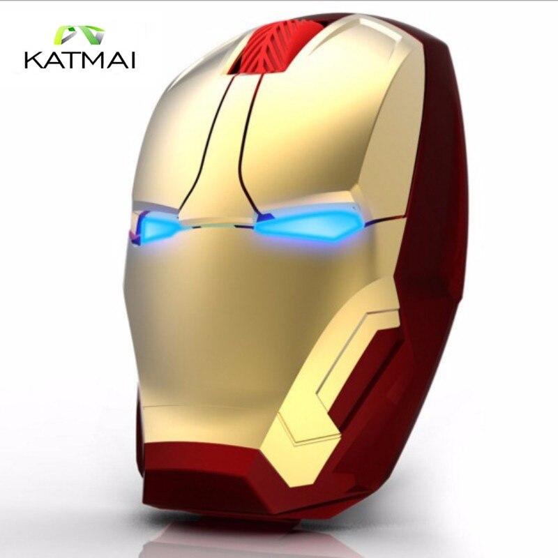 KATMAI Iron Man Gaming Maus Drahtlose Maus Optische Mute-Taste mäuse Für Maus...