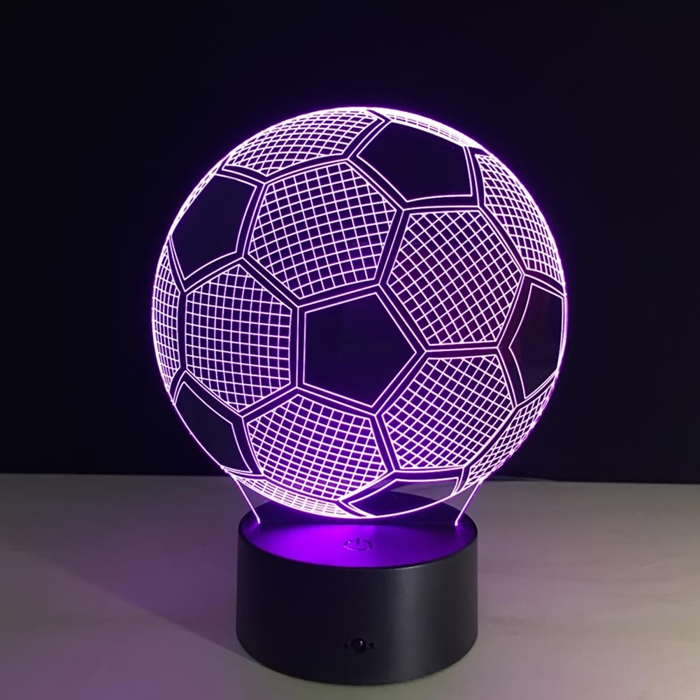 Aliexpress : Buy Seven Colors Changing Soccer Ball Light Football 3d  Visual Led Night Light Usb Novelty Table Lamps As Home Decor Besides  Lampara From