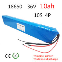 36V 10ah electric bicycle battery pack 42V 18650 Li Ion Battery 500W High Power and Capacity 42V Motorcycle Scooter with BMS