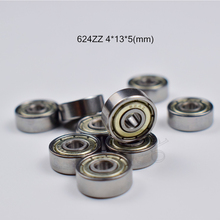 624ZZ  4*13*5(mm) 10pieces bearing Metal sealed  free shipping  ABEC-5 chrome steel bearings hardware Transmission Parts все цены