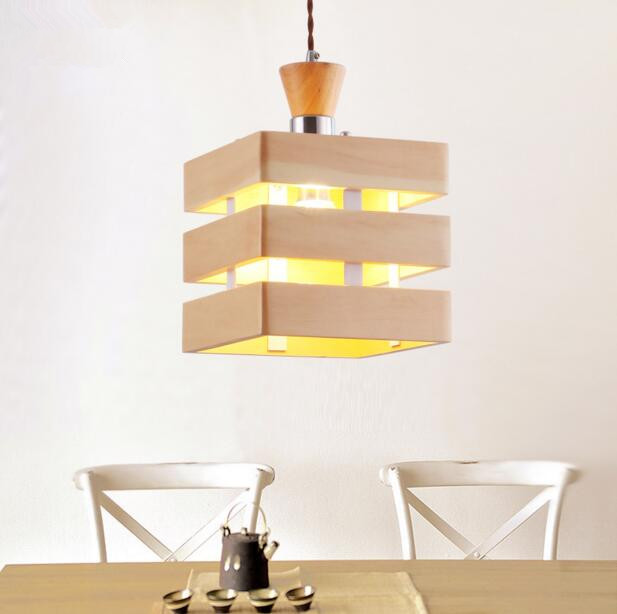Modern Creative Chandelier Simple Fashion Bar Wooden Living Room Restaurant Solid Wood Chandelier Free Shipping