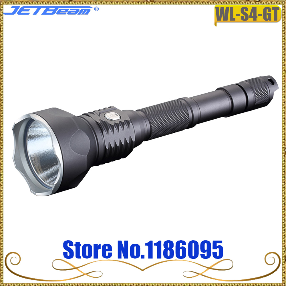 JETBeam WL-S4-GT Hunting light Cree XHP70 LED MAX.3300 lumens beam distance 400 meters tactical torch for outdoor sports klarus g20l cree next gen xhp70 2 p2 micro usb charging led flashlight 3000 lumens beam distance 300 meters tactical light