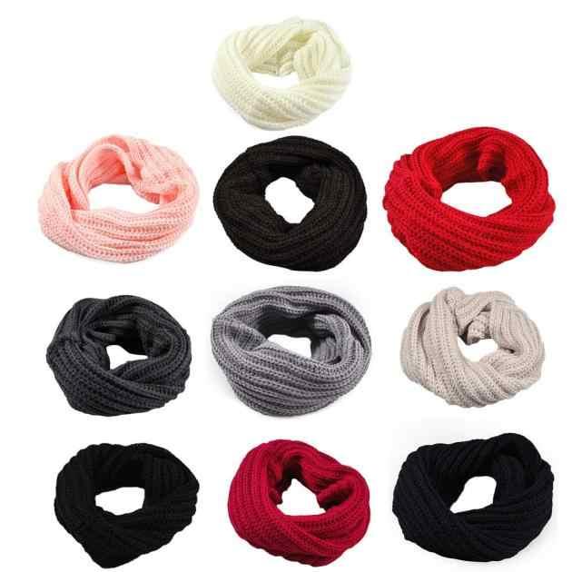 2019 nuevo Otoño Invierno Sacrf bufanda de tipo chal de lana con cuello cálido para niña