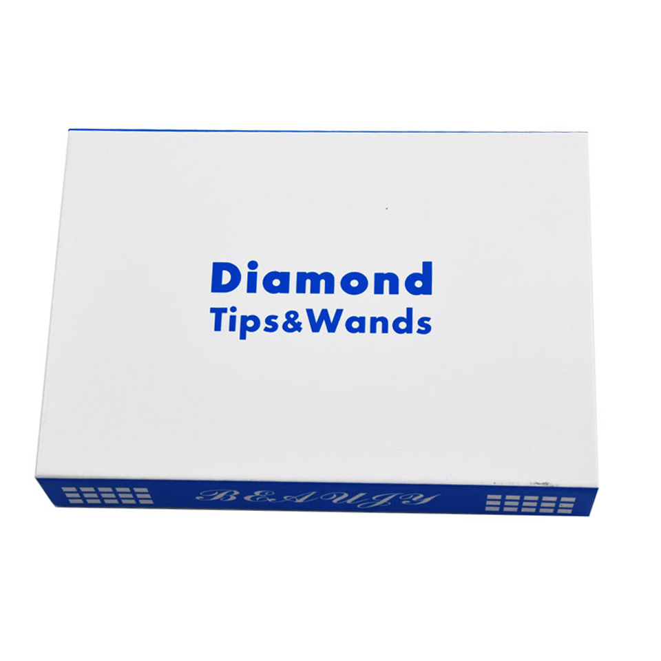 3 Wands 9 Diamond Tip Microdermabrasion Dermabrasion Kit For Black Head Remover Facial Skin Rejuvenation Peeling Care Clean Tool