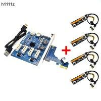 Riser Kit PCIE 1 To 4 PCI E Express 1X To 16X Riser Card Mini ITX