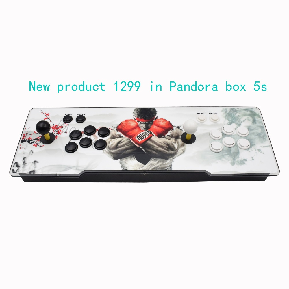 лучшая цена box 5S 1299 in 1 arcade game console jamma usb arcade joystick arcade controller zero delay kit games joysticks For pandora box