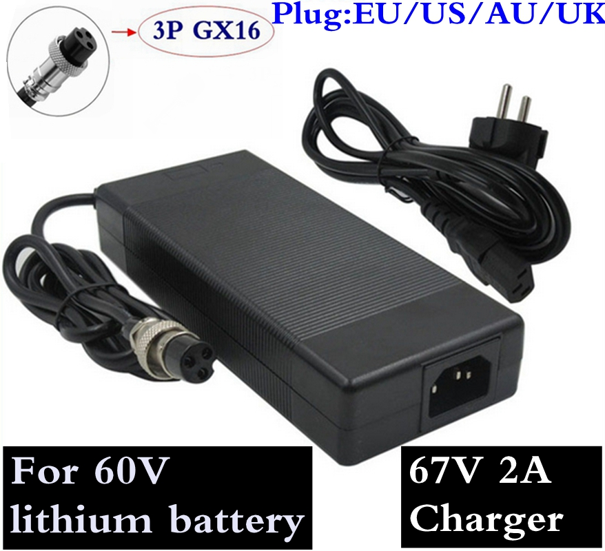 67.2V 2A Lowest Price High Quality Charger Output 67.2V 2A For 60V Harley Citycoco Electric Scooter Charger Free Shipping