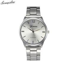 Fashion Women Men Watches Crystal Stainless Steel Analog Quartz Wrist Watch Bracelet wholesale