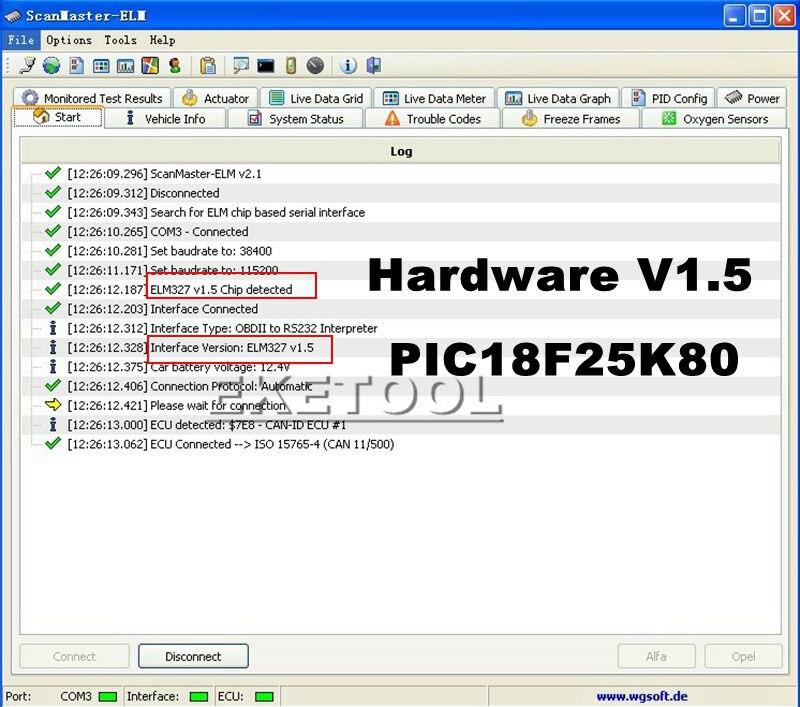 elm327 soft-1 V1.5
