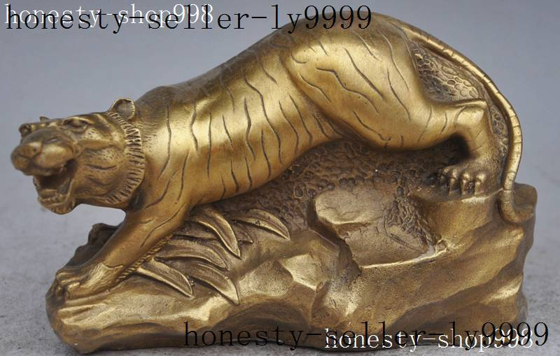 Crafts statue fengshui brass wealth zodiac Ferocious evil tiger Success lucky statueCrafts statue fengshui brass wealth zodiac Ferocious evil tiger Success lucky statue