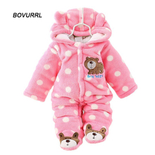 BOVURRL Baby Rompers Winter Baby Boy Clothes Cotton Newborn Baby Clothes  Baby Girl Clothing Sets Roupas Bebe Infant Jumpsuit цена 2017