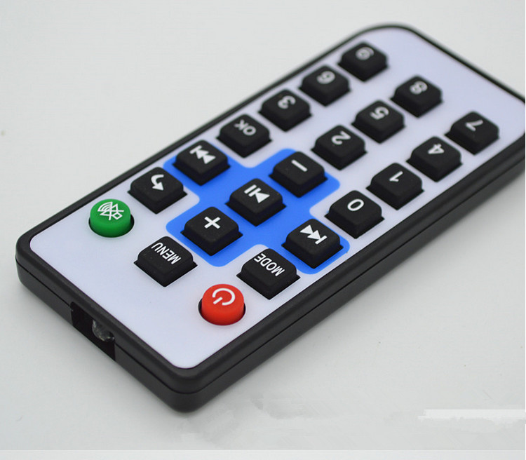 Free Ship 10pcs/lot Infrared Remote Control/21 Key Mini Equipment Remote Control/rubber Remote Control